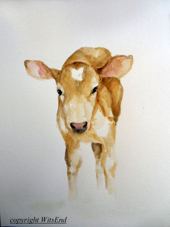 113 Best Images About Watercolor Cows On Pinterest A Cow