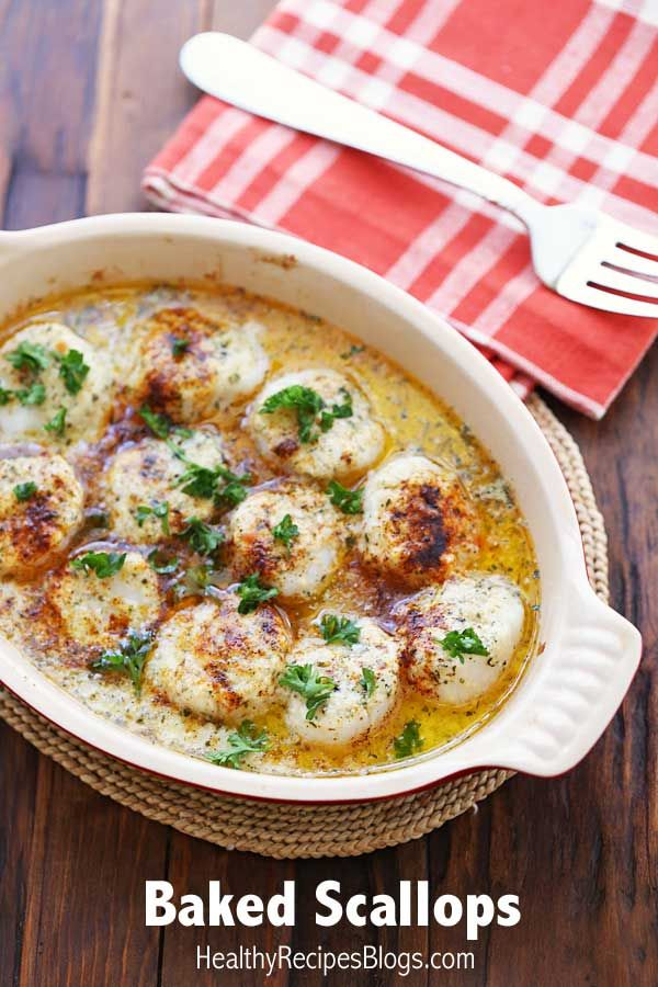 Buttery Baked Scallops