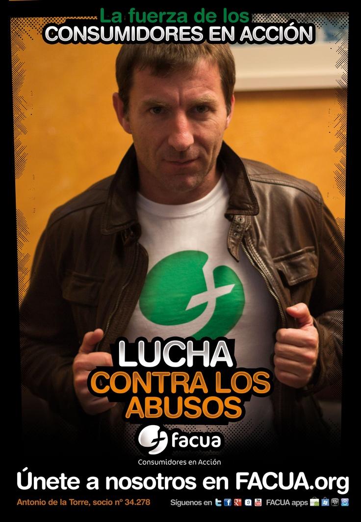 Antonio de la Torre, socio de FACUA nº 34.278, llama a los consumidores a la lucha contra los abusos