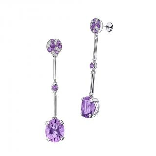 Plaisir d'Amour Earrings  Plaisir d'Amour earrings, 18Kt white gold, Amethyst (6,2 ct), amethysts and diamond pavé.