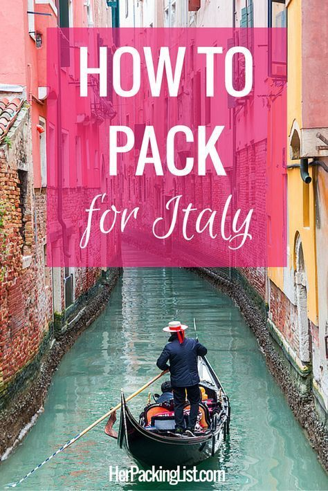 This girl knows Italy and knows how to pack for it well.