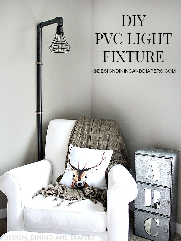 DIY PVC Light Fixture Tutoria! I can't believe how great this looks!