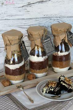 ullatrulla backt und bastelt: Geschenke aus der Küche   Backmischung im Glas für Brownies
