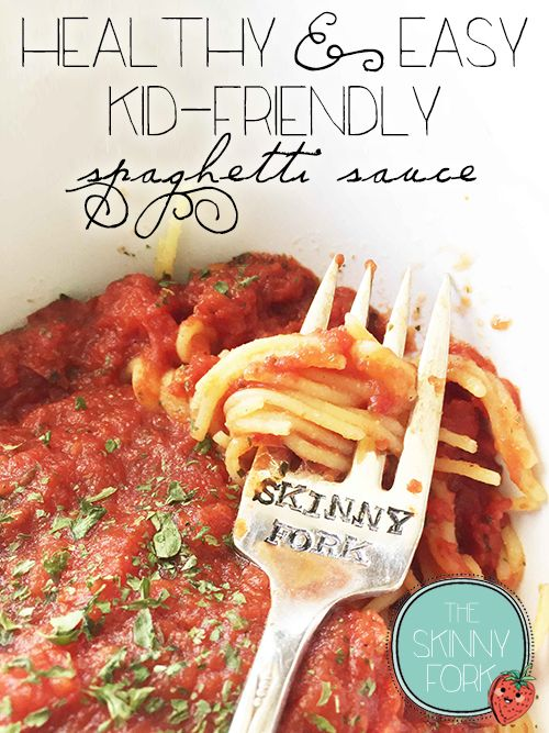 Healthy & Easy Kid-Friendly Spaghetti Sauce —  This is my little girl's favorite spaghetti sauce! Clean & lean. Plus, it's so easy that she can nearly make it by herself!