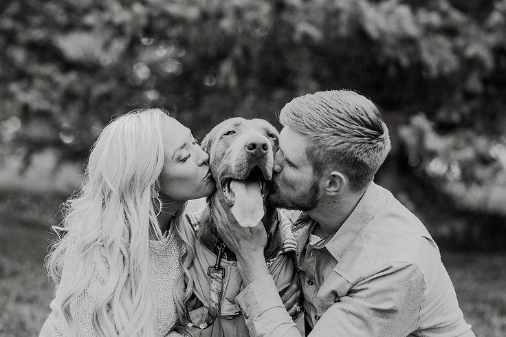 Danielle+Derek Engagements ll Puppy Engagements ll Utah Engagement Photographer