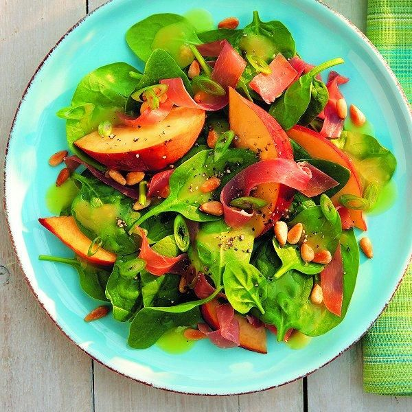 Peach & prosciutto salad   Recipe   Prosciutto, Peaches and Salads