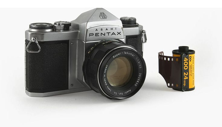 "Heres' where it all started: The Asahi Pentax, made by the Asahi Optical Co., in 1957. Its innovation was the pentaprism (5-sided prism) viewfinder that gave the sLR an erect, correct image at eye level. In fact, the name Pentax means ""Pentaprism Reflex."" It was so successful that it influenced the design of 35 mm SLRs worldwide for years to come and Asahi renamed itself to Pentax. They kept the name Asahi on their cameras, except for a few years when Honeywell imported Pentax into the USA."
