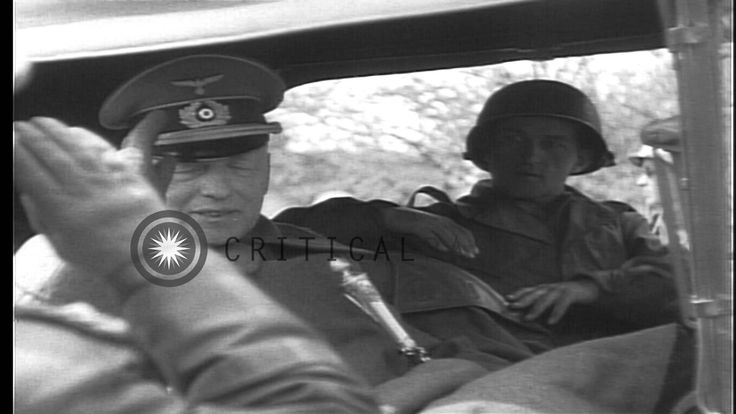 Captured German Field Marshal von Kleist is driven away in a US military truck