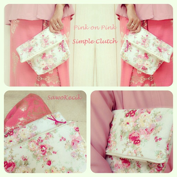 Simple Clutch New Pattern - Pink on Pink