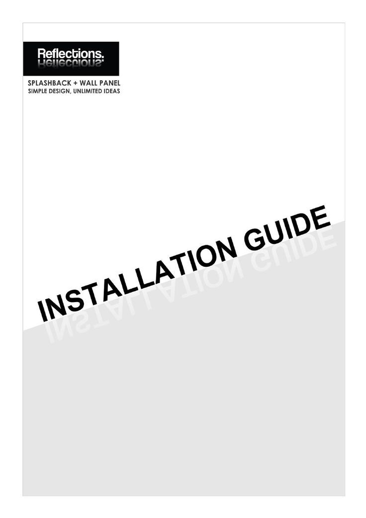 Reflections Installation Guide