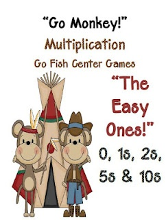 Fern Smith's Classroom Ideas!: Go Monkey! Multiplication Go Fish Game ~ The Easy Facts!  Common Core Standards  Math - Operations & Algebraic Thinking  Third Grade: 3.OA.3 3.OA.7 $3: Multiplication Facts, Math Ideas, Smith Classroom, Ferns Smith, Fish Games, Cards Games, Classroom Ideas, Monkey, 3Rd Grade