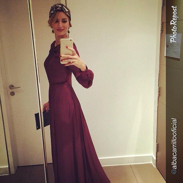 Alba espectacular con vestido de Hoss Intropia para Cool The Sack.  Zielo Shopping Pozuelo