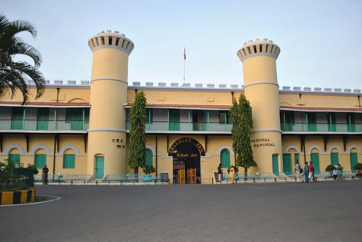 Front View of Cellular Jail // This colonial prison in indian islands was used especially to exile political prisoners - many notable dissidents such as Batukeshwar Dutt, Yogendra Shukla and Vinayak Damodar Savarkar, among others, were imprisoned here during the struggle for India's independence. Today it serves as a national monument.