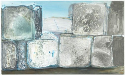 Mind Blocks 2009  by Marlene Dumas for her exhibition 'Against The Wall'  exploring the infamous walls of this Palestinian and Israeli border region of the Middle East.