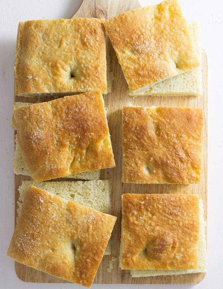Fluffy, salty, satisfyng homemade focaccia bread / JillHough.com One of the best sandwich breads ever!
