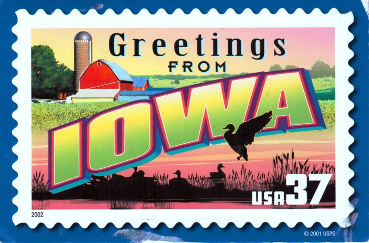 Iowa - my mom was born here -but I have never been that far north.....American States, Statehood 12281846, Favorite Places, Greeting Frompostcard, Iowa Born, Fields Of Dreams, Iowa States, Farms Fields, States Stamps
