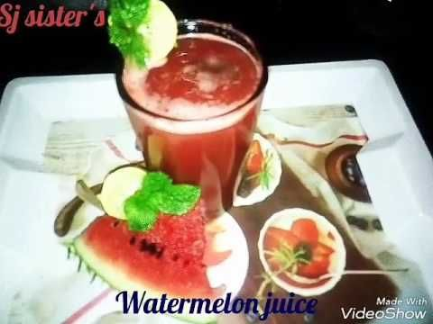 Watermelon juice recipe | How to make watermelon (Tarbuj)  juice & health benefits/in Hindi - YouTube