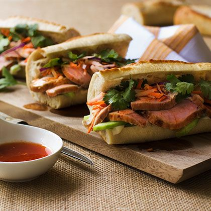 These flavorful sandwiches are made with marinated pork tenderloin ...