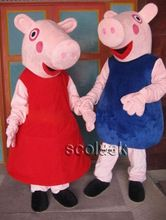 US $94.00 Adult size suit Actual photo pink pig mascot Costume Clothes pink pig mascot costume free shipping. Aliexpress product