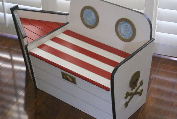 Toy Chest Chest Wooden Box Boat Boat Toy Beach House Decor Decor Beach