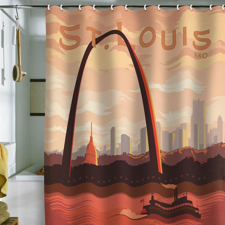 Anderson Design Group 'St Louis' Shower CurtainSt Louis, Curtains 69X70, Denis Shower, Louis Shower, Denis Design, Shower Curtains, Design Group, Design Home, Anderson Design