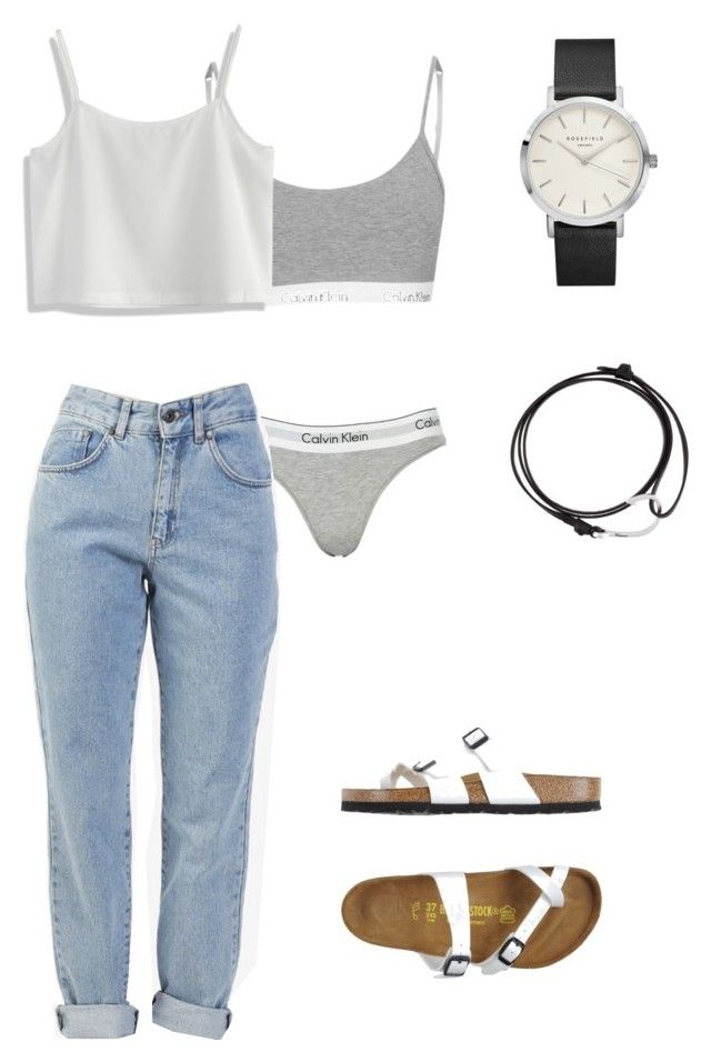 mom jeans for the win by lyladuffy on Polyvore featuring polyvore, fashion, style, Chicwish, The Ragged Priest, Calvin Klein, Birkenstock, MIANSAI and clothing
