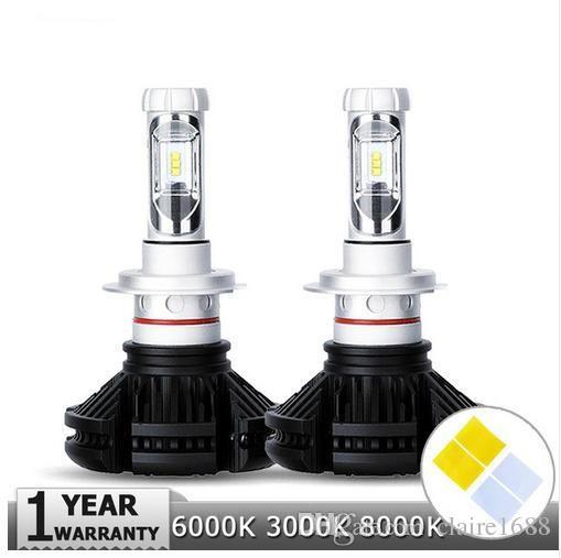 H4/H7/H11/H13/9005/9006 50W LED Car Headlight Bulbs 6000lm CREE Chips Auto Headlamp Fog Light 12v 24v 3000K/6500K/8000K - $75.99