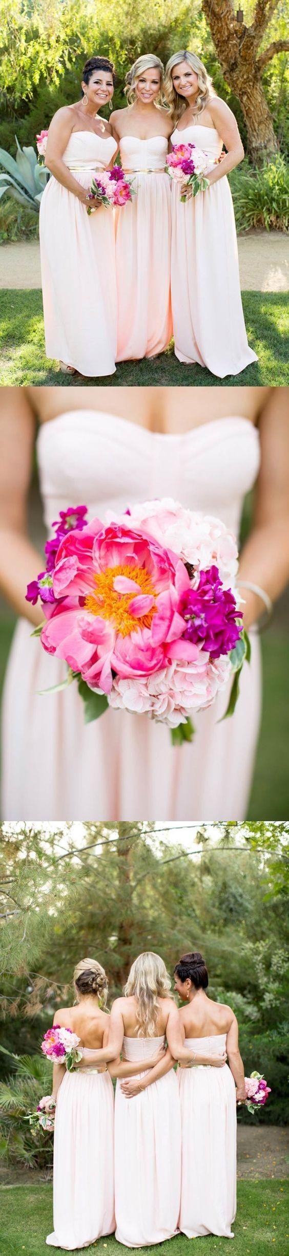Chiffon Bridesmaid Dress, Sweet Heart Bridesmaid Dress, Dress for Wedding,  LB0814 #bridesmaids#wedding