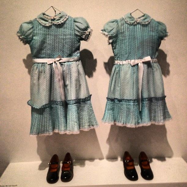 Creepy Costumes at the Stanley Kubrick exhibit // LACMA | @thisisveda Instagram