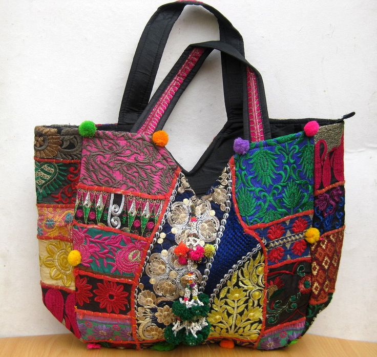 Shopping bag/ Handbag  / banjara  bag/colorful bag / shoulder bag/ fashion bag /tribal bag/ embroiderd bag/ gift item. by vibrantscarves on Etsy