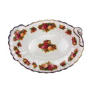 Royal Albert Old Country Roses Fall Foliage 19-inch Turkey Platter