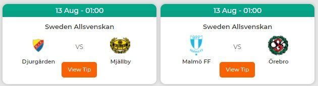 Sweden Allsvenskan League We Featured In Our Free Predictions In 2020 Football Predictions Best Football Tips Bet Football