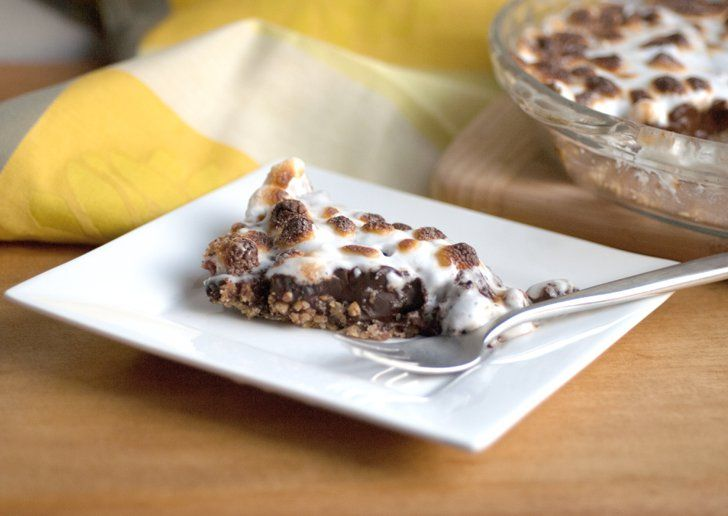 Pin for Later: You Should Spend Pi Day With These Sweet and Savory Pie Recipes Dark Chocolate Marshmallow Pie This decadent dessert is dairy free and sinfully delicious. Get the recipe for dark chocolate marshmallow pie.