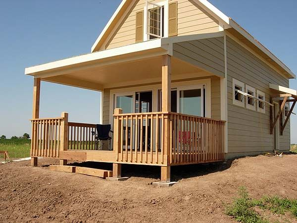 """After a good deal of research, I settled on a set of plans called the """"Weekend Warrior"""" by Robinson Residential. Using those plans as a guide, I expanded the footprint of the cottage by three feet and added a full second floor sleeping loft."""