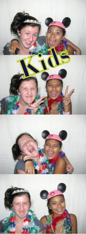 Kids being silly in the photo booth