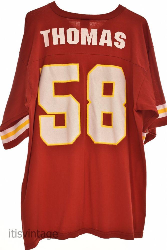 Vintage 1990's Derrick Thomas Kansas City Chiefs Logo 7 Cotton Blend Shirt Large | Clothing, Shoes & Accessories, Men's Clothing, T-Shirts | eBay!