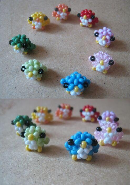 japanes birds of beads