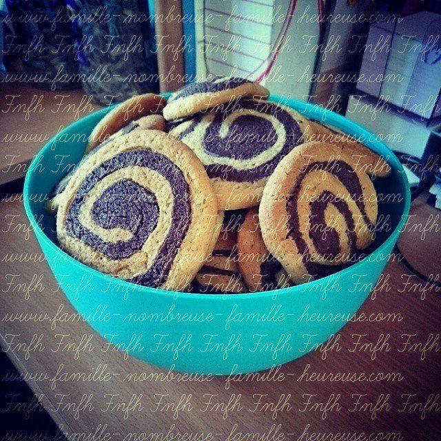 Gâteaux goûters.  Escargots chocolat vanille. Blog famille nombreuse famille heureuse