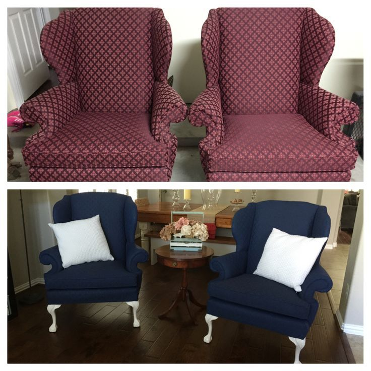 Painted Upholstery With Annie Sloan Chalk Paint Napoleonic Blue Mix Paint Into Upholstery Ideas Painting Fabric Furniture Paint Upholstery Annie Sloan Chalk Paint Napoleonic Blue