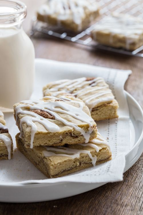If You're Officially Over Healthy January, Then These Snickerdoodle Bars Are For You