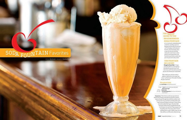 Why drink a commercial soda when you can have a pure old fashioned phosphate soda from The Fountain on Locust!