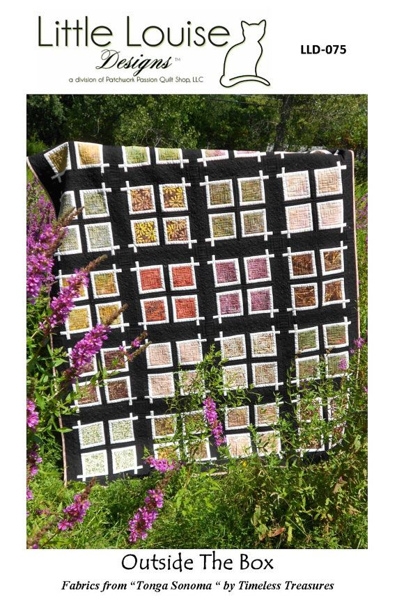 Quilt Pattern Outside The Box Layer Cake by LittleLouiseQuilts, $9.00