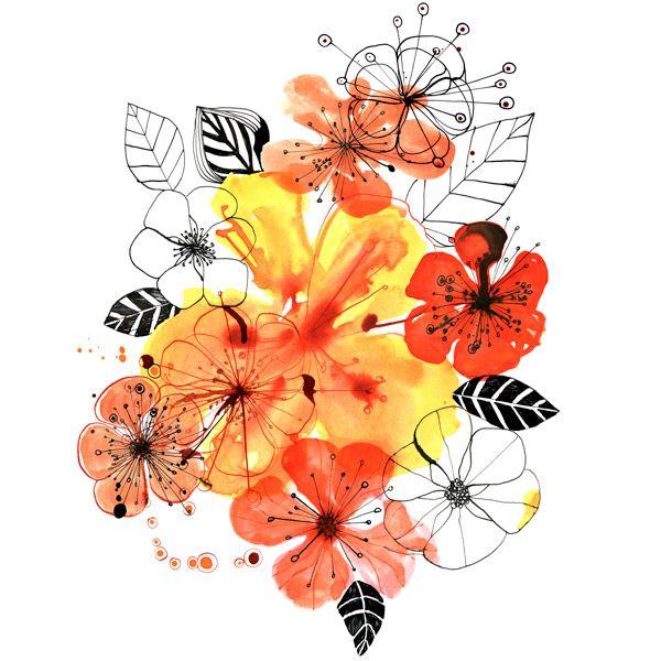 Margaret Berg : florals / spring Afgezien van de kleuren, blijf ik ecoline erg mooi vinden en wil dit ook verwerken in het huis.