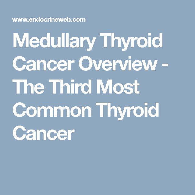 Medullary Thyroid Cancer Overview - The Third Most Common Thyroid Cancer