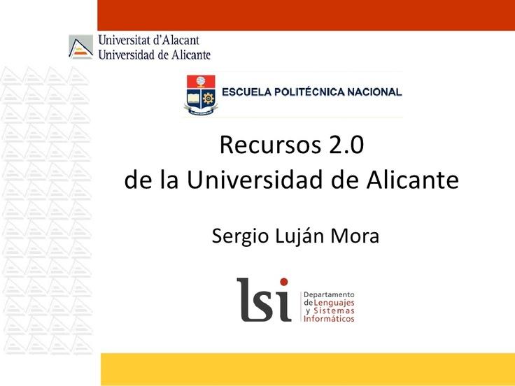 Recursos 2 0 de la universidad de alicante by sergio luj n for Universidad de valencia online
