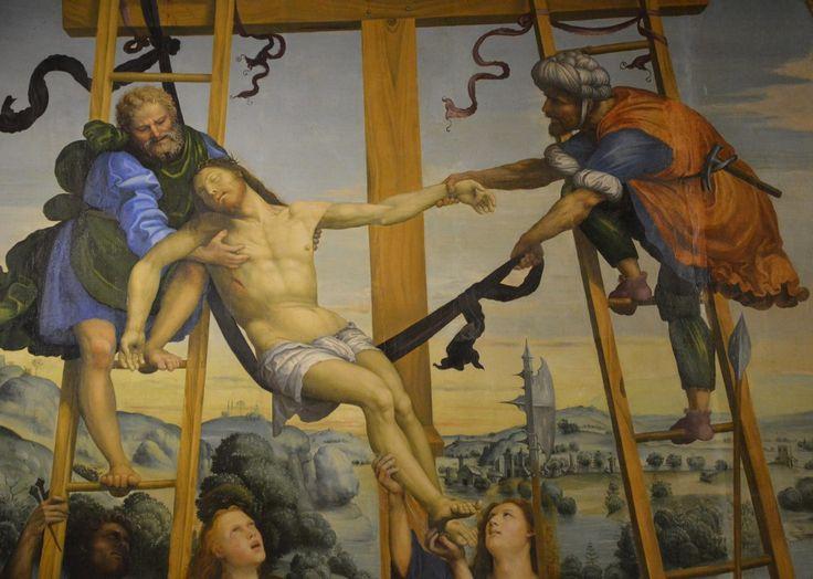 Siena  Sodoma (1477-1549) Deposizione di Cristo (my photo)