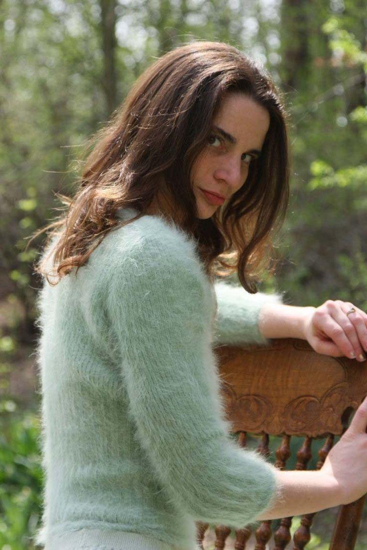 woman's angora sweater