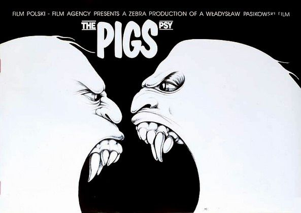 The Pigs Psy Erol Jakub Polish Poster - film poster, 1992