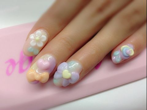 3dimensionail: Five Star Nails http://mydarlingrainbow.tumblr.com