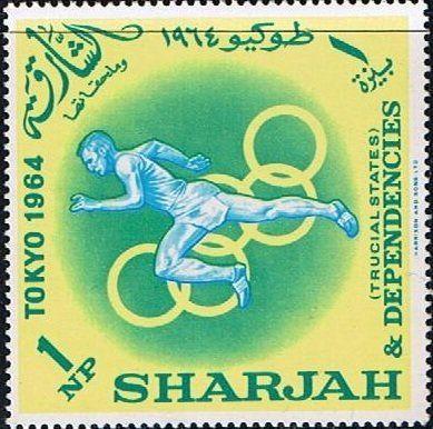 Stamp: Running (Sharjah) (Summer Olympics 1964, Tokyo) Mi:AE-SH 61A,Yt:AE-SH 46